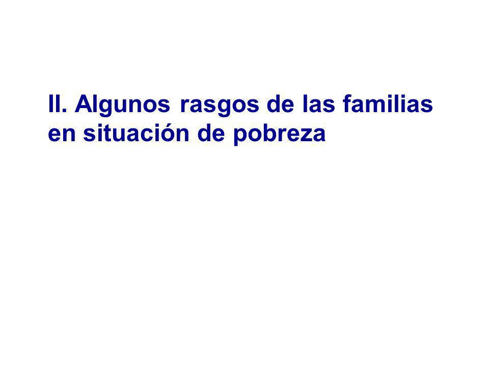 II. Algunos rasgos de las familias en situación de pobreza