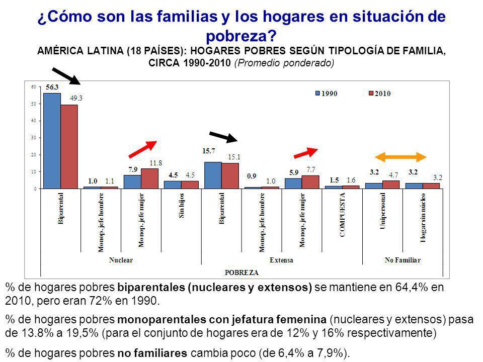 ¿Cómo son las familias y los hogares en situación de pobreza