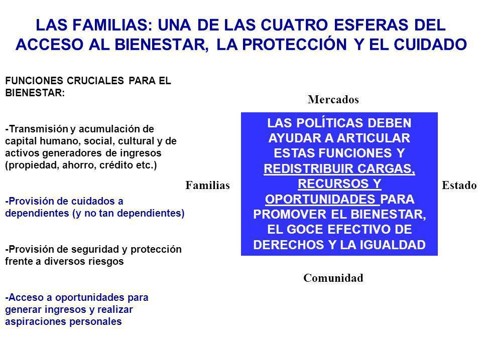 Las familias: una de las cuatro esferas DEL acceso al bienestar, la proteccióN Y EL CUIDADO