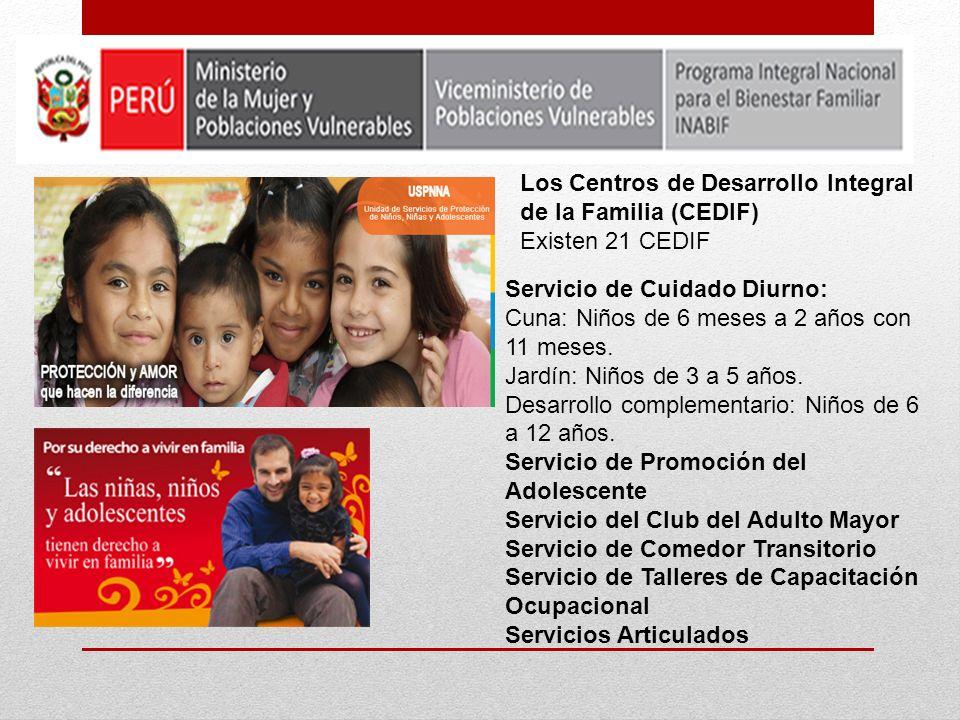 Los Centros de Desarrollo Integral de la Familia (CEDIF)