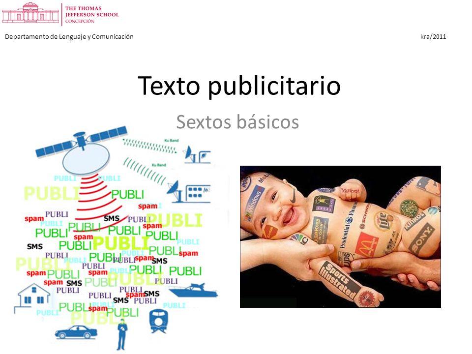 Texto publicitario Sextos básicos