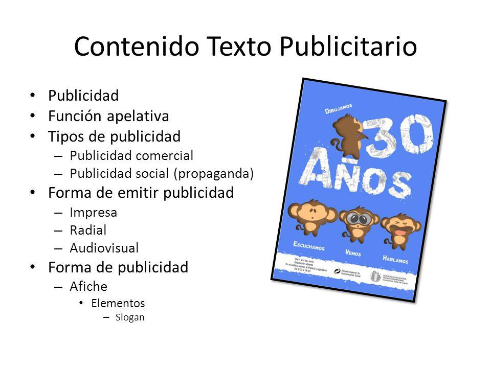 Contenido Texto Publicitario