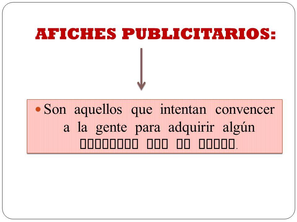 AFICHES PUBLICITARIOS: