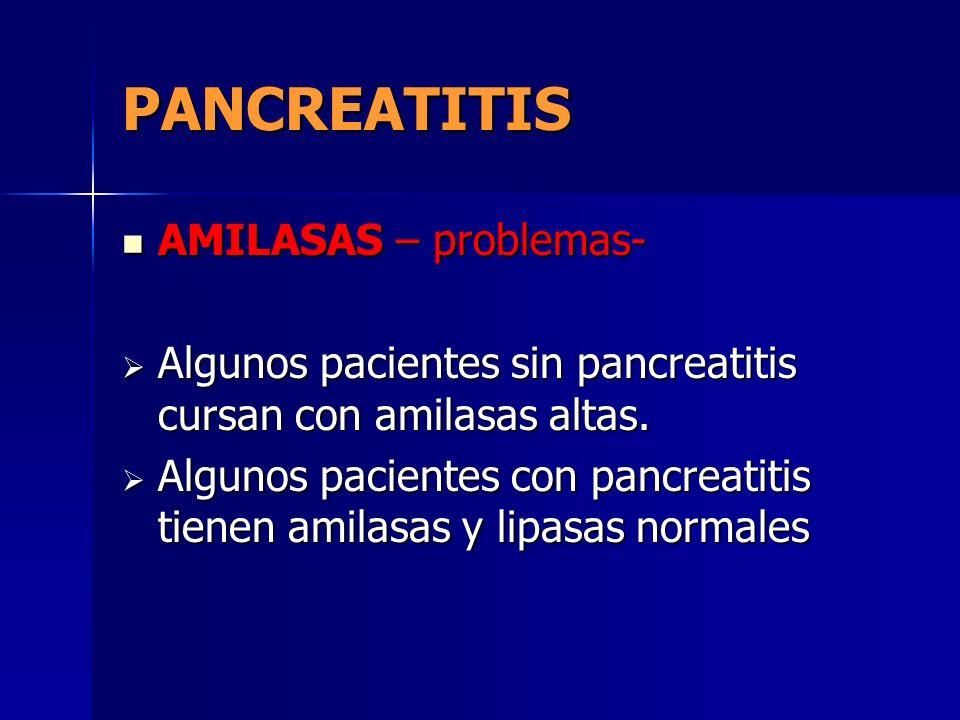 PANCREATITIS AMILASAS – problemas-