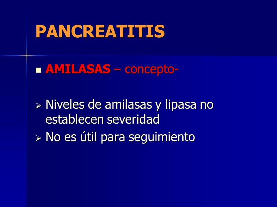 PANCREATITIS AMILASAS – concepto-