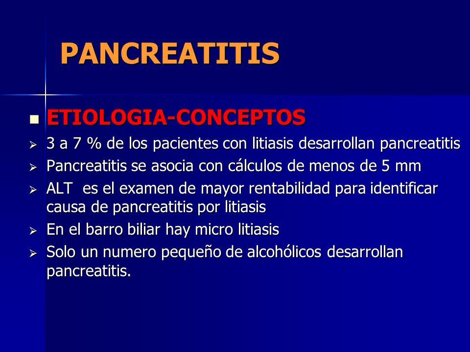 PANCREATITIS ETIOLOGIA-CONCEPTOS