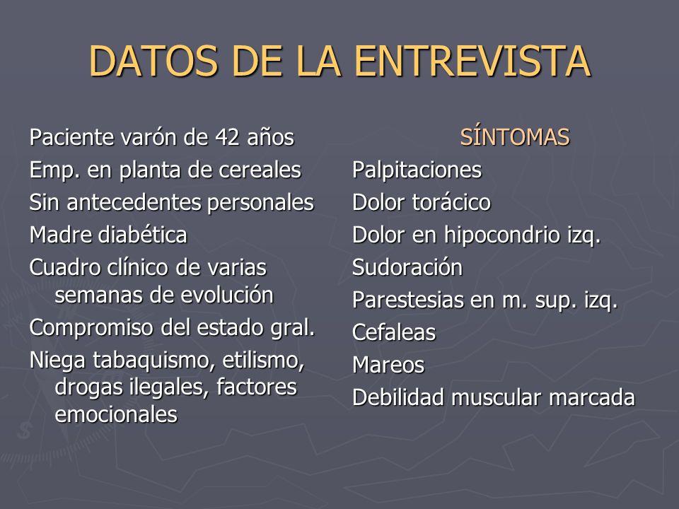DATOS DE LA ENTREVISTA Paciente varón de 42 años