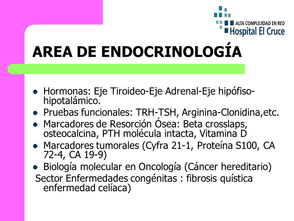 AREA DE ENDOCRINOLOGÍA
