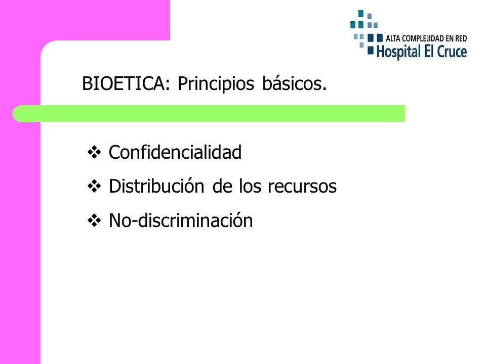 BIOETICA: Principios básicos.