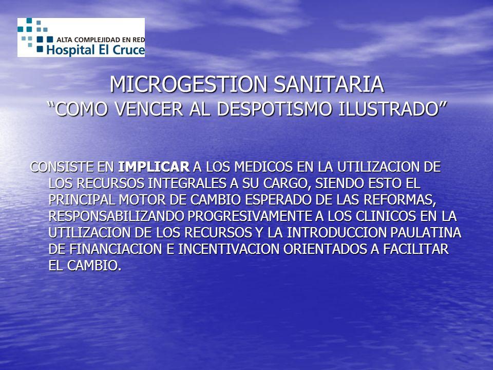 MICROGESTION SANITARIA COMO VENCER AL DESPOTISMO ILUSTRADO