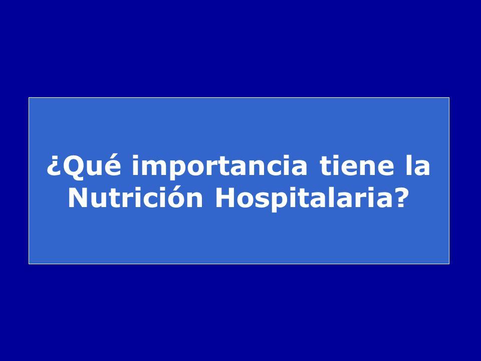 ¿Qué importancia tiene la Nutrición Hospitalaria