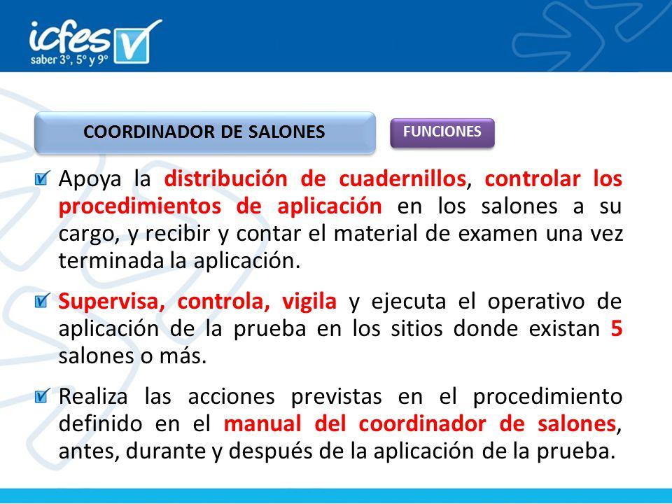 COORDINADOR DE SALONES