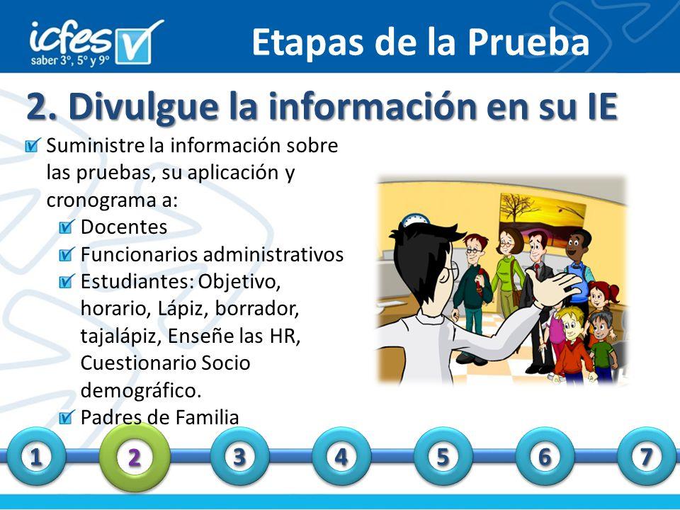 2. Divulgue la información en su IE