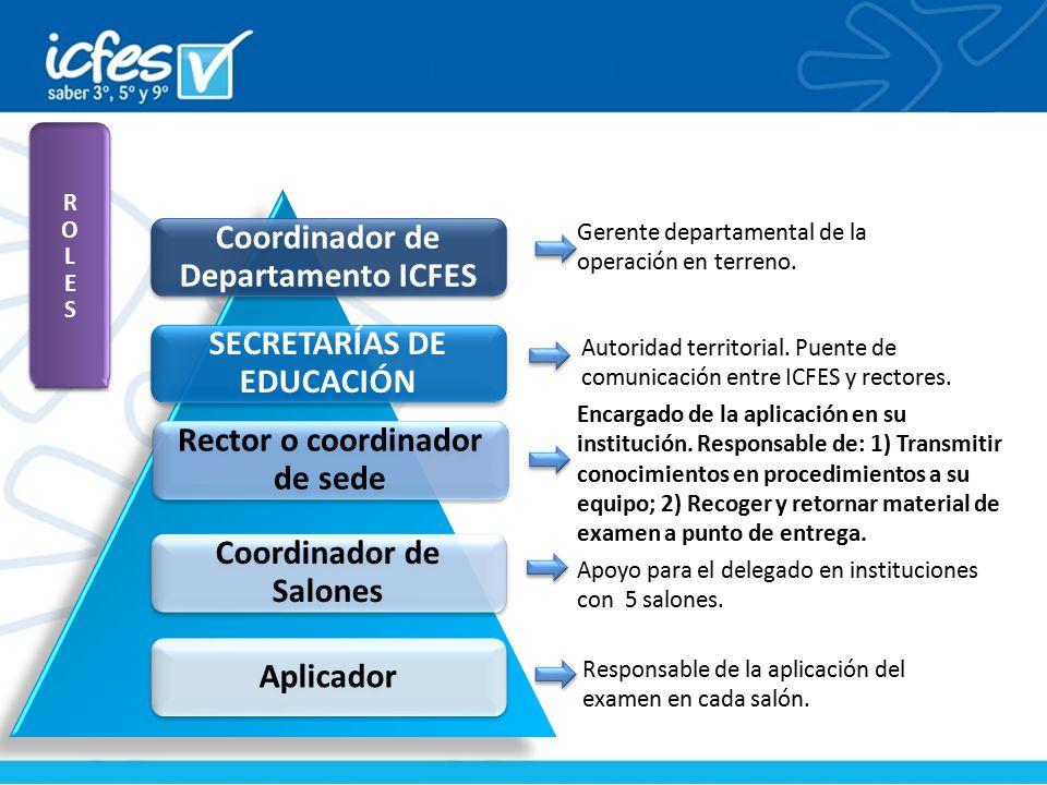 Coordinador de Departamento ICFES SECRETARÍAS DE EDUCACIÓN