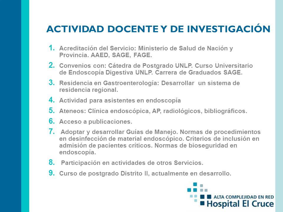 ACTIVIDAD DOCENTE Y DE INVESTIGACIÓN