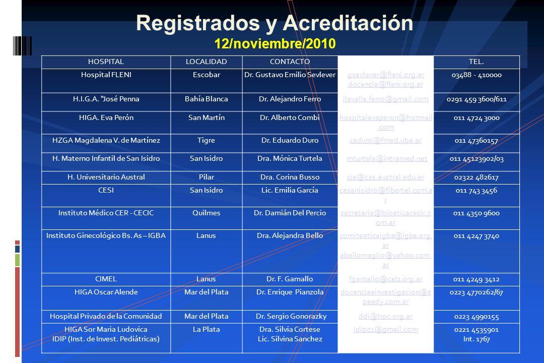 Registrados y Acreditación 12/noviembre/2010