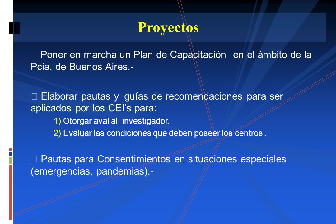 Proyectos Poner en marcha un Plan de Capacitación en el ámbito de la Pcia. de Buenos Aires.-