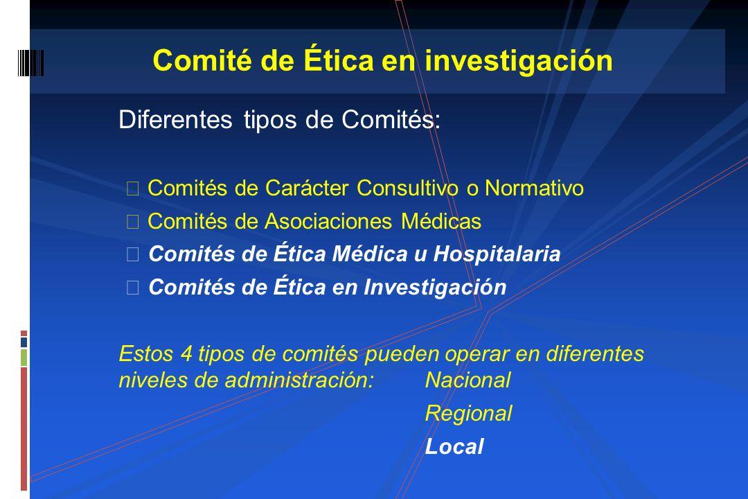 Comité de Ética en investigación