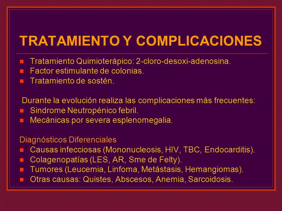 TRATAMIENTO Y COMPLICACIONES