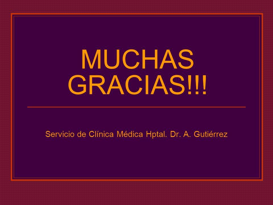 Servicio de Clínica Médica Hptal. Dr. A. Gutiérrez