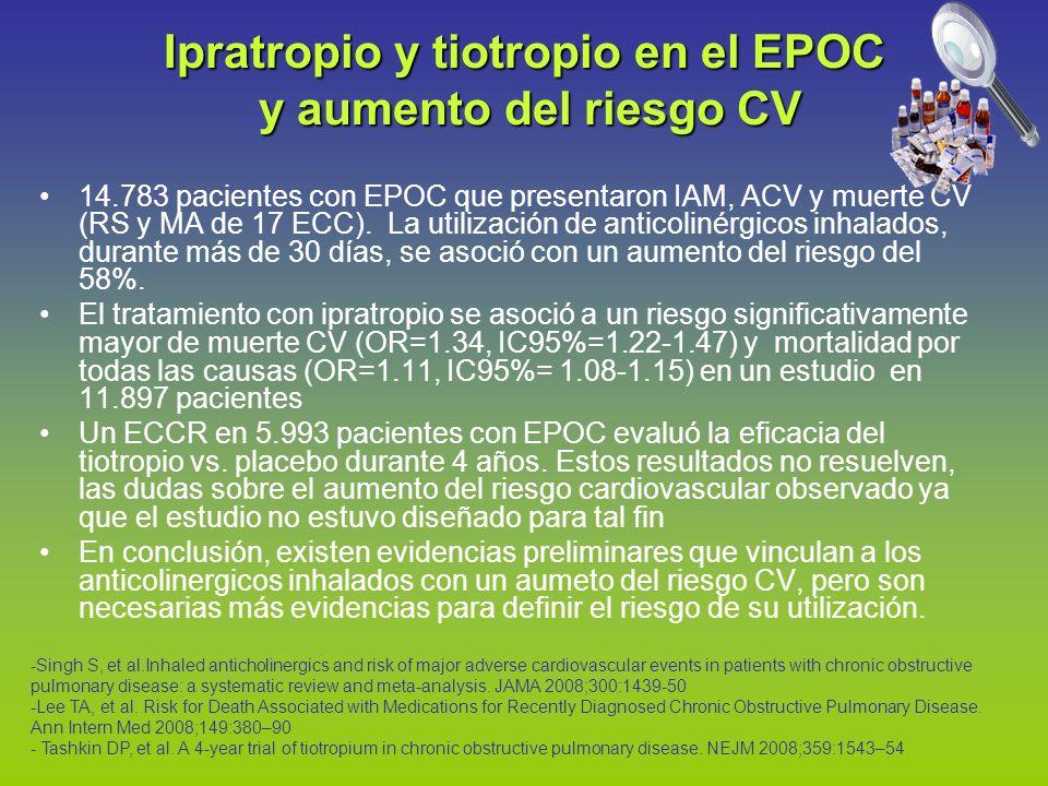 Ipratropio y tiotropio en el EPOC y aumento del riesgo CV