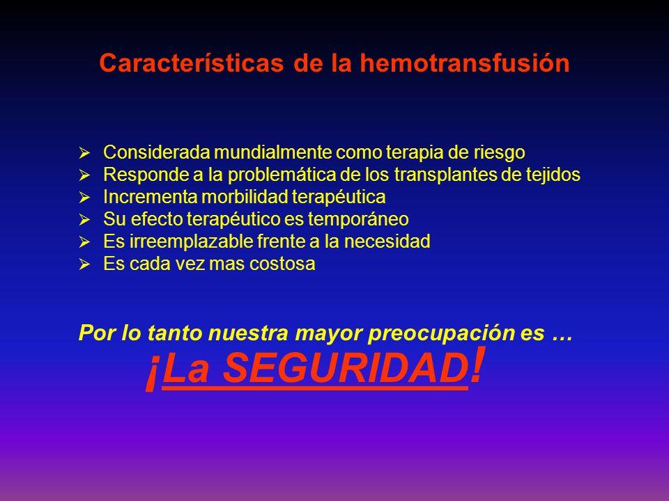 Características de la hemotransfusión