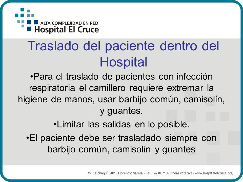Traslado del paciente dentro del Hospital