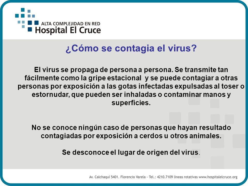 ¿Cómo se contagia el virus