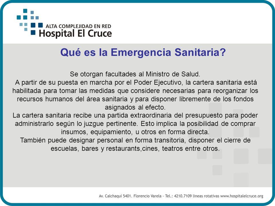 Qué es la Emergencia Sanitaria