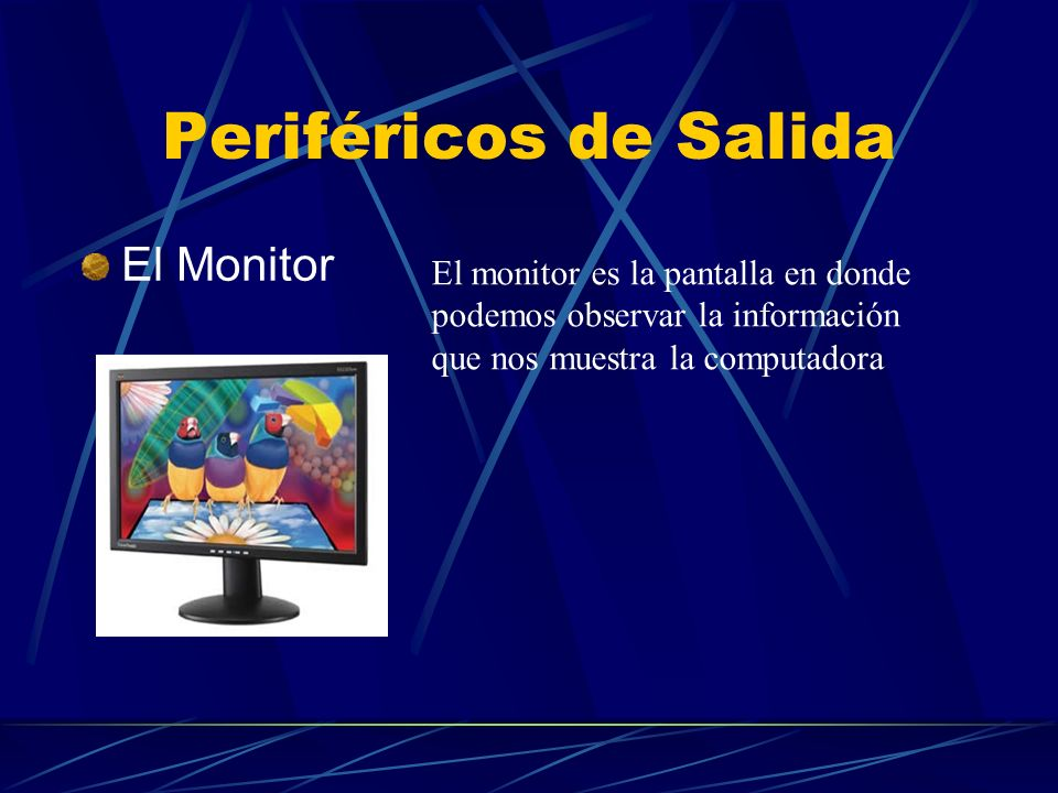 Periféricos de Salida El Monitor