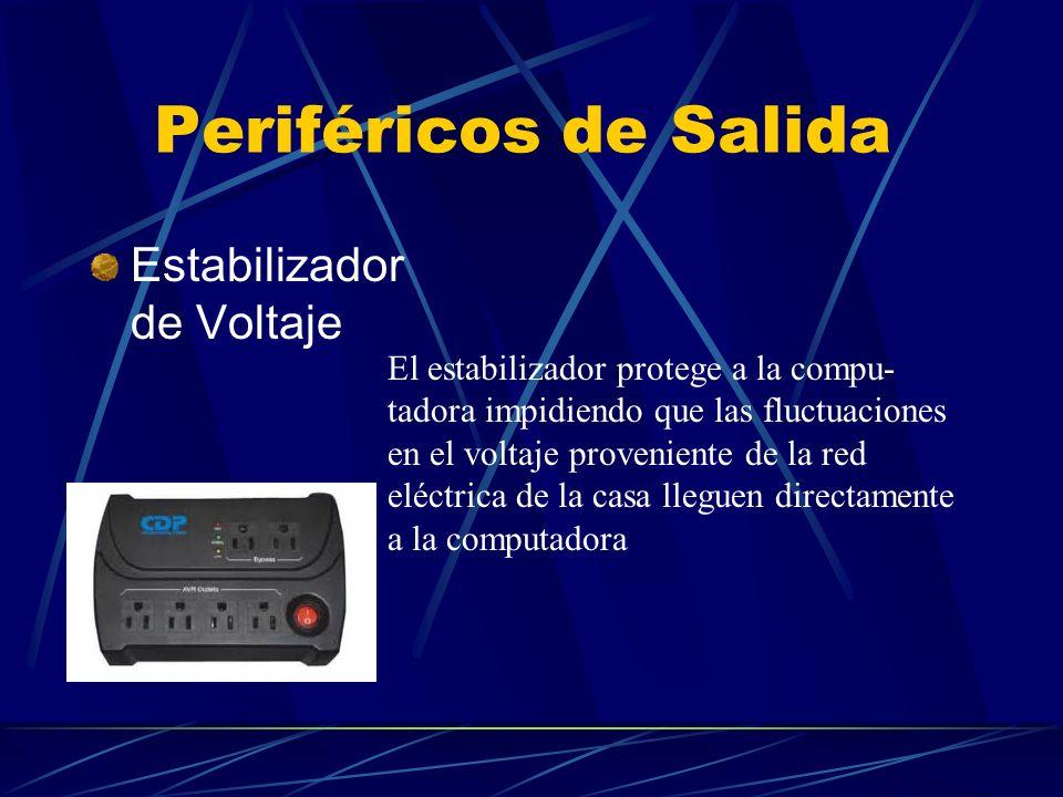 Periféricos de Salida Estabilizador de Voltaje