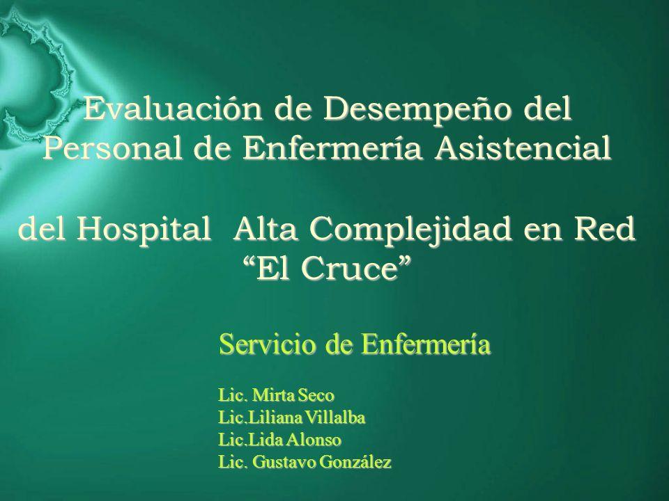 Evaluación de Desempeño del Personal de Enfermería Asistencial