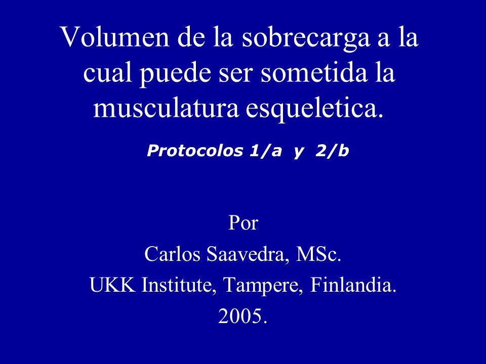 Por Carlos Saavedra, MSc. UKK Institute, Tampere, Finlandia. 2005.