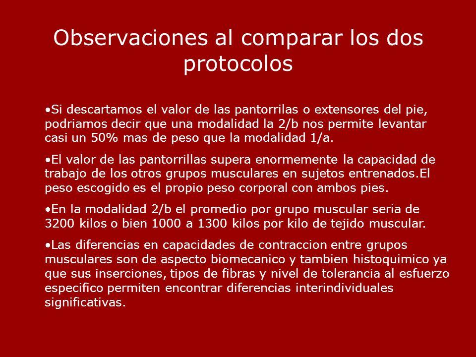Observaciones al comparar los dos protocolos