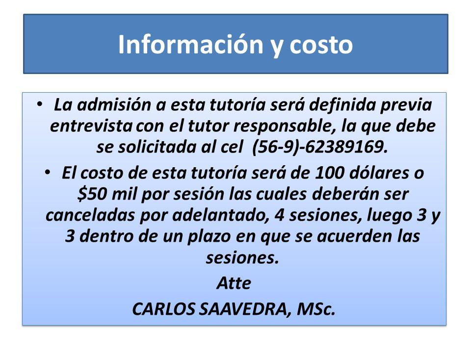 Información y costo