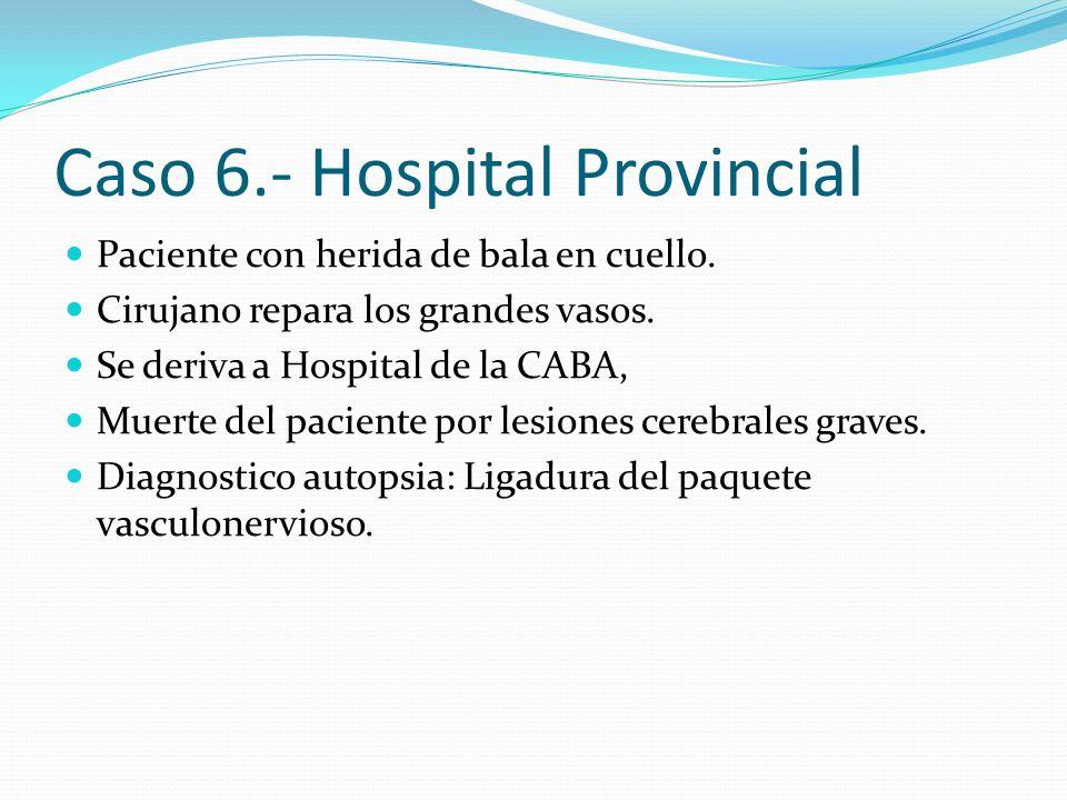 Caso 6.- Hospital Provincial
