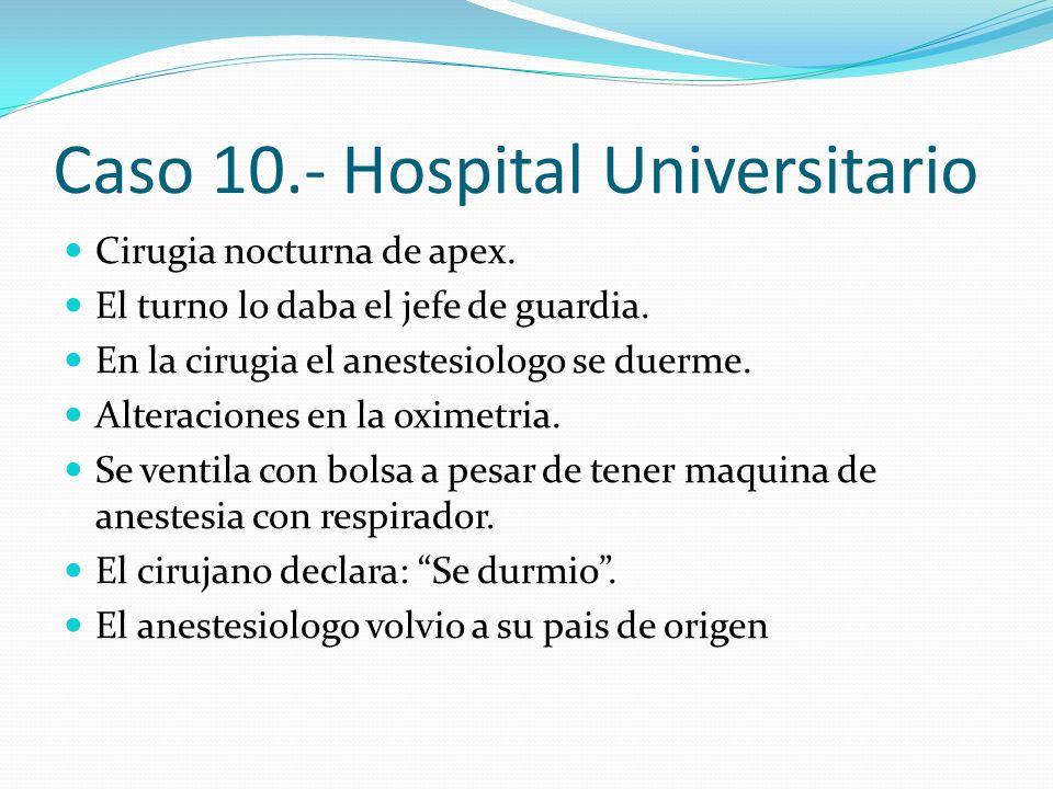 Caso 10.- Hospital Universitario