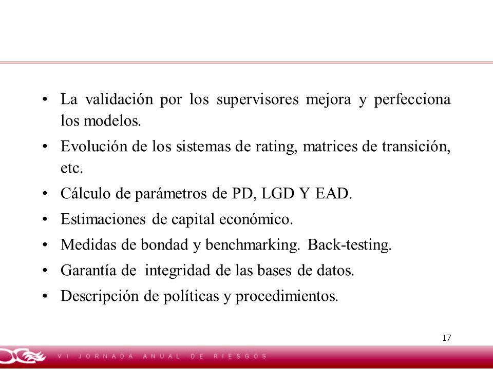 La validación por los supervisores mejora y perfecciona los modelos.