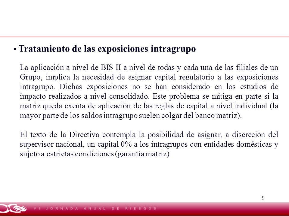 Tratamiento de las exposiciones intragrupo