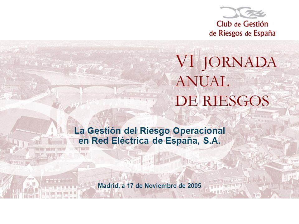 La Gestión del Riesgo Operacional en Red Eléctrica de España, S.A.