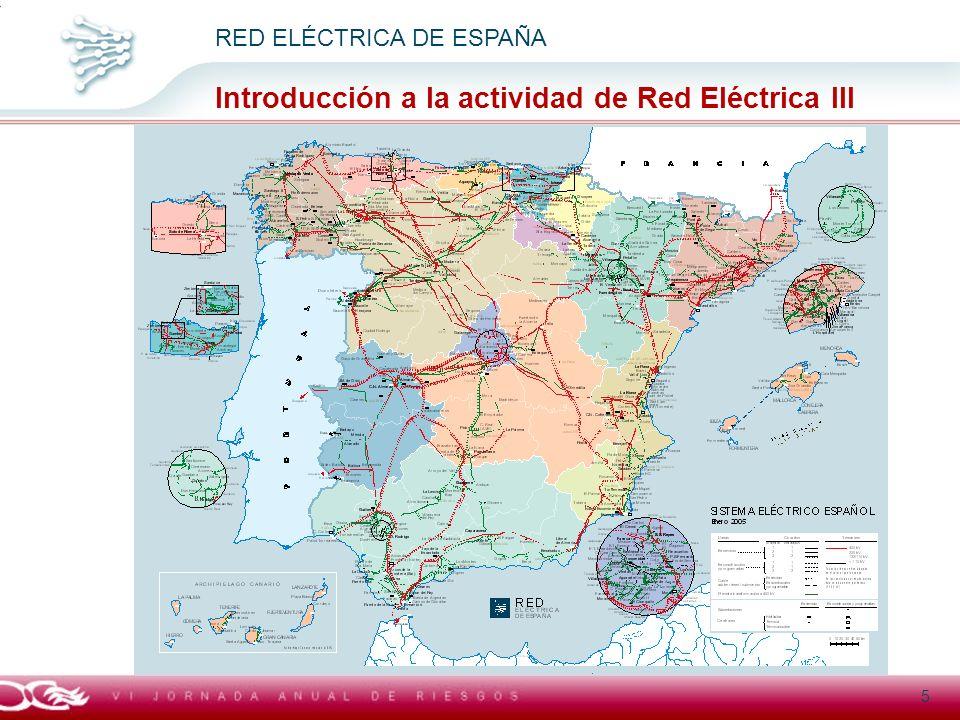 Introducción a la actividad de Red Eléctrica III