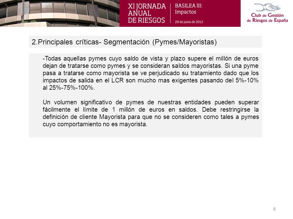 2.Principales críticas- Segmentación (Pymes/Mayoristas)