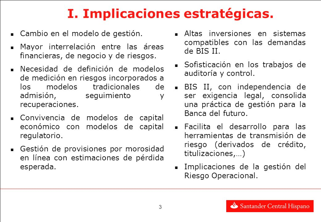 I. Implicaciones estratégicas.