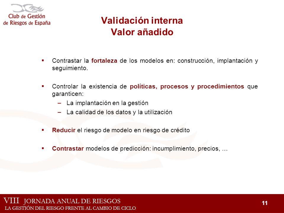 Validación interna Valor añadido