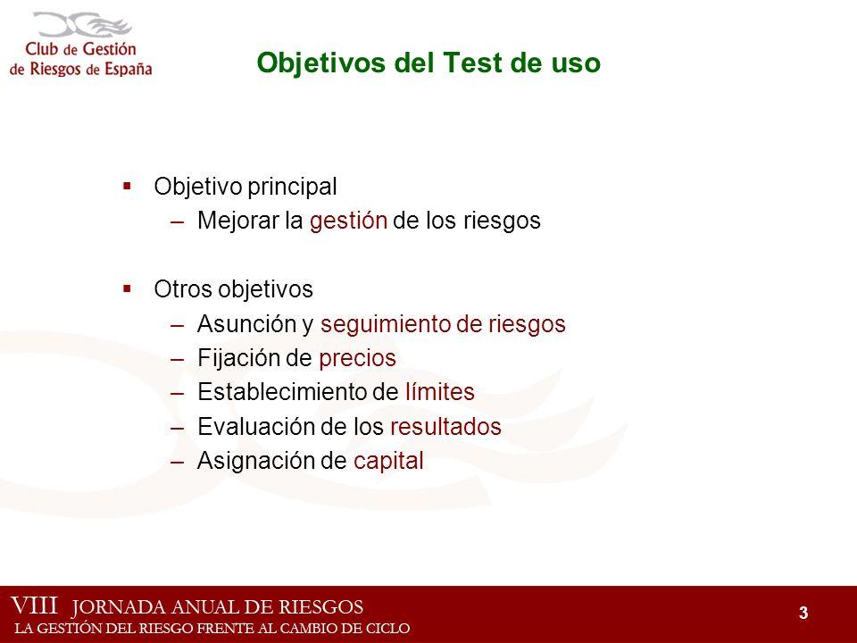 Objetivos del Test de uso