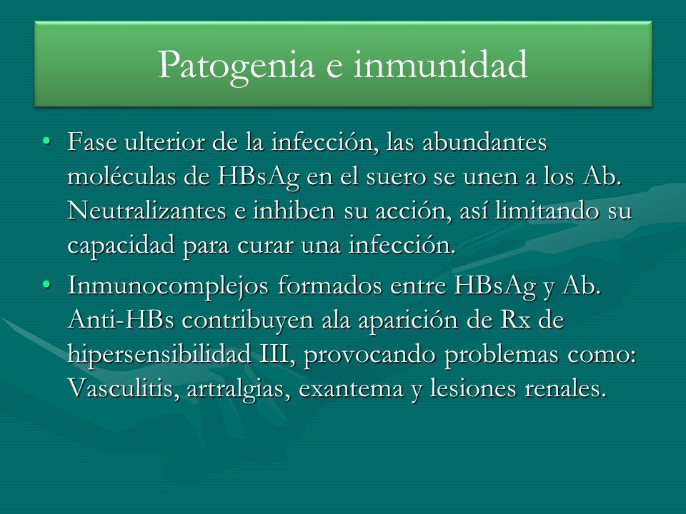 Patogenia e inmunidad