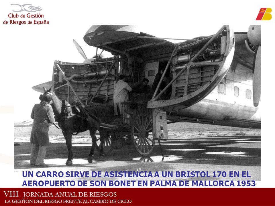 UN CARRO SIRVE DE ASISTENCIA A UN BRISTOL 170 EN EL