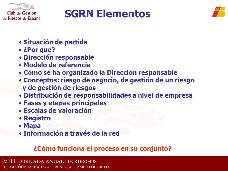 SGRN Elementos Situación de partida ¿Por qué Dirección responsable