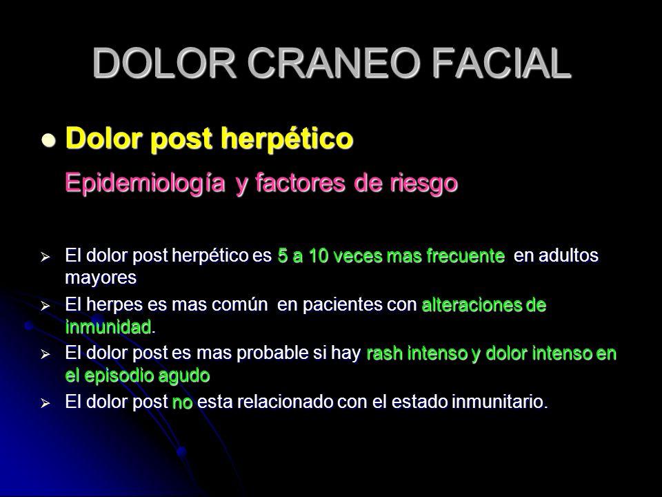 DOLOR CRANEO FACIAL Dolor post herpético