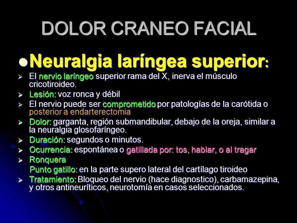 Neuralgia laríngea superior: